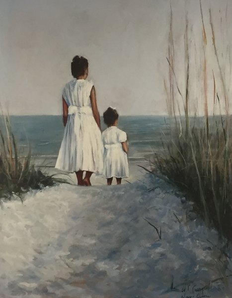 Giclee Print of (Angels In The Sand) from Oil Paintings by Wayne E Campbell