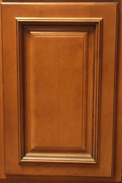 TMG Cherry Glazed Maple Wall Diaganal Corner 24w x 24w x 36h