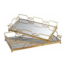 Mirrored Trays