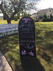 Gold Chalkboard Sign