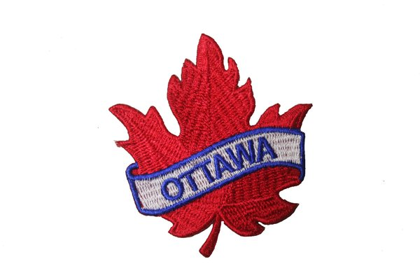 Ottawa red maple leaf embroidered iron on patch crest