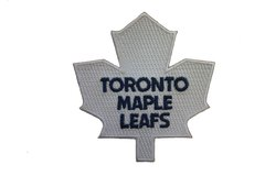 """TORONTO MAPLE LEAFS WHITE NHL LOGO EMBROIDERED IRON ON PATCH CREST BADGE .. SIZE : 3.5"""" x 3.25"""" INCHES .. NEW"""