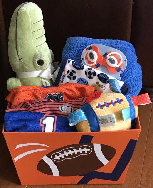 Baby Gift Basket Florida : Florida gator baby gift basket sold five brown monkies