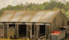 Thomas W.Va 5 Stall Engine House - HO Scale - LAST ONE!!!