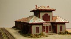 HO N&W Mahone Style Station Diorama