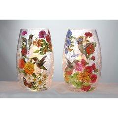 Stony Creek Lighted Vases ~ Hummingbirds