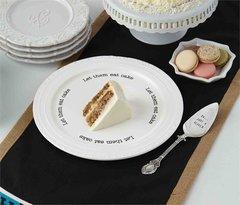 "Mud Pie ~ Circa Cake Plate ""Just a Sliver"""