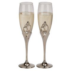 """Embrace"" Collection ~ Champagne Flutes & Cake Server Sets"