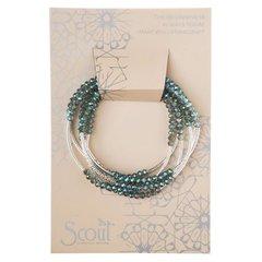Scout ~ Bracelet - Necklace in one ~ Seabreeze/Silver