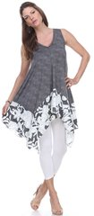 Sleeveless Hankerchief Dress/Tunic