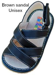Squeaker Shoes Brown Sandals Unisex