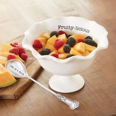 Mud Pie Fruit Pedestal Bowl Set