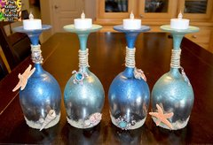 Sandra Soucy ~ Summer & Sea Wine Glass Candle Holders ~ Wednesday, May 24th ~ 7 - 9  SOLD OUT
