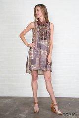 Simply Noelle Longline Sheer Print Tunic