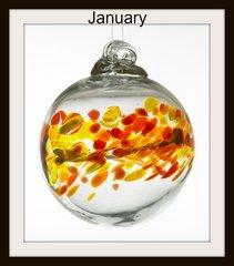 """Kitras """"Birthday Wish Balls"""" ~ 2"""" Glass Balls"""