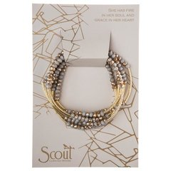 Scout ~ Bracelet - Necklace in one ~ Silver Lining/Gold