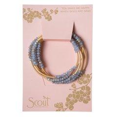 Scout ~ Bracelet - Necklace in one ~ Cloud (Blue)/MatteGold