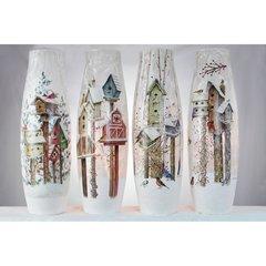 Stony Creek Lighted Vases ~ Birdhouses ~ 4 x 4 x 11.75