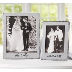 Wedding frames ~ Mircobead polished aluminum