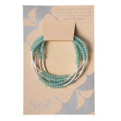 Scout ~ Bracelet - Necklace in one ~ Turquoise/Matte Silver