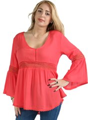 Bell Sleeved or Lace V Neck Sleeveless Tunic