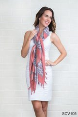 Simply Noelle Paisley Square Scarf with Tassels