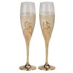 """Forever"" Collection ~  Champagne Flutes & Cake Server Sets"