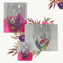 """Sandra Soucy ~ Glass Painting """"Wild Flowers"""" ~ March 22"""
