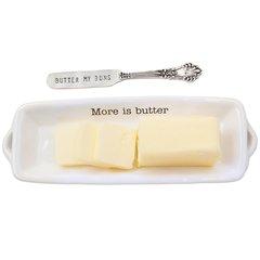 """Mud Pie ~ Circa Butter Dish ~ """"Butter my Buns"""""""