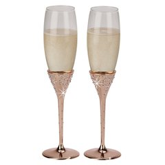 """Galaxy"" Collection ~ Champagne Flutes & Cake Server Sets"