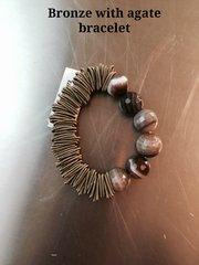 Sea Lily Piano Wire Agate & Jasper Bracelets