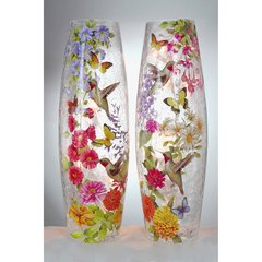 Stony Creek Lighted Vases ~ Hummingbirds & Butterflies