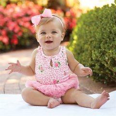 Mud Pie ~ Rose Tutu Crawler (1 pc)