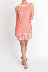 Aryeh ~ Orange & White printed dress