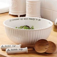 """Mud Pie ~ Circa Salad Bowl & Servers ~ """"All dressed up and ready to go"""""""
