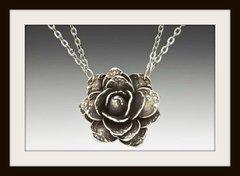 Silver Spoon Rose Pendant