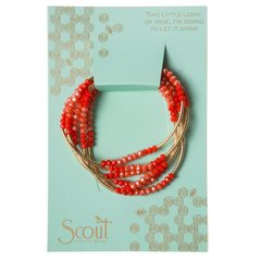 Scout ~ Bracelet - Necklace in one ~ Coral/Gold