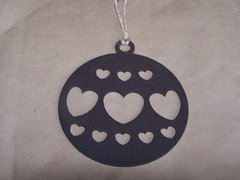 Hearts in Circle Ornament