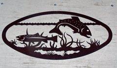 Fish 20'' Oval Wall Art