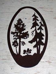Trees 20'' Oval Wall Art