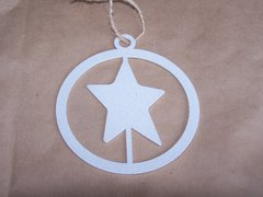 Star in Circle Ornament