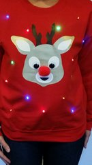 Red Nose Reindeer - LIGHT UP - UGLY CHRISTMAS SWEATER