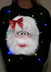 Abominable Snow-Woman - LIGHT UP - UGLY CHRISTMAS SWEATER