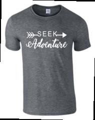Seek Adventure T-Shirt - Seek Adventure Shirt - MADE IN THE USA!