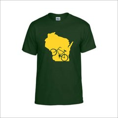 Wisconsin Bike T-Shirt - Wisconsin Shirt - Biking Shirt - Wisconsin Pride - MADE IN THE USA!