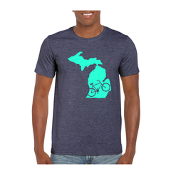 Michigan Biking T-Shirt -Bike Michigan - Michigan Bike - Michigan Shirt - Michigan Biking - Michigan Pride - MADE IN THE USA!