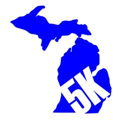 Michigan Run - MiRun - 5K Run - Running Decal