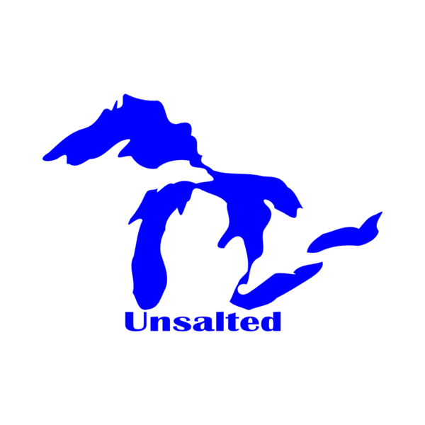 Great Lakes Unsalted Vinyl Car Decal Michigan Decals