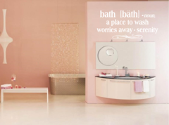 Bath - Noun a place to wash worries away Wall Decal