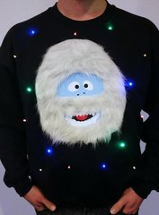 Abominable Snowman - LIGHT UP - UGLY CHRISTMAS SWEATER
